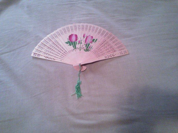 18th Century, Regency, Colonial, Marie Antoinette Rose Fan