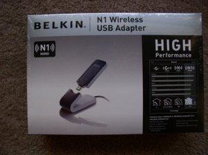 New Belkin N1 Wireless USB Adapter Network adapter