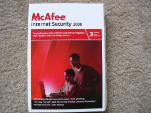 New McAfee Internet Security 2009 3-PC
