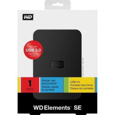 NEW Western Digital Elements SE 1 TB External Hard Drive (WDBPCK0010BBK)