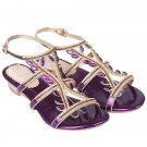 Stylish Sandals With Faux Jewel and Flat Heel Design