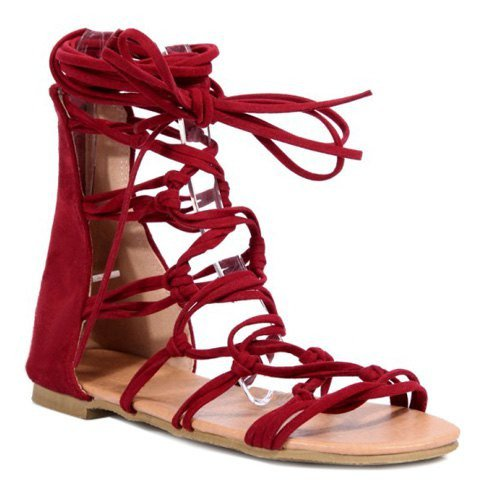 Rome Style Sandals With Lace Up Design