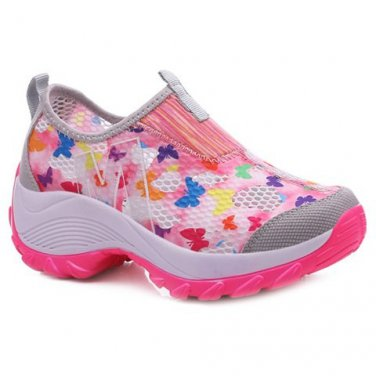 Fashionable Athletic Shoes With Butterfly Pattern