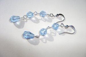 Sapphire Drop Earrings - 3 Tier