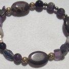 Amethyst Gemstone bracelet - stretch