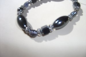 Gemstone stretch bracelet - haematite