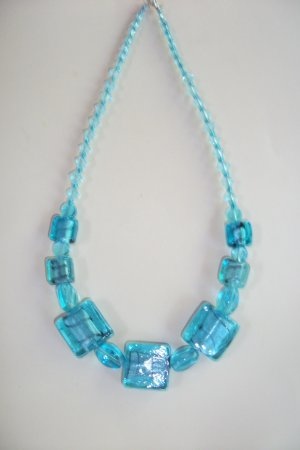 Retro - Aqua Necklace