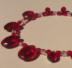 Ruby and Crystal Classic Necklace