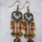 Topaz Tribal Crystal Earrings