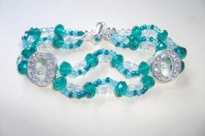 Crystal Wave Bracelet - Teal
