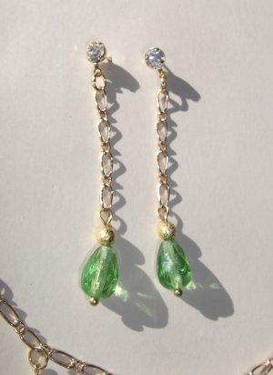 Peridot (green) Waterfall Earrings