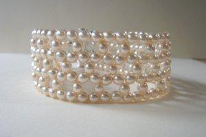 Ivory Pearl Weave Bracelet
