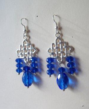 Celtic Crystal Chandelier Earrings