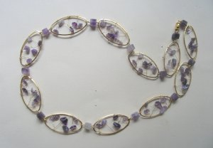 Amethyst Web-Chain Necklace