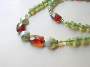 SUPER DISCOUNT - Olivine and Topaz Bead Necklace