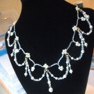 Edwardian Style - Pearl & Crystal Necklace
