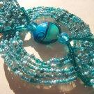 Woven Celtic Style Bracelet - Aqua, turquoise