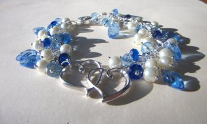 Sapphire and heart bracelet
