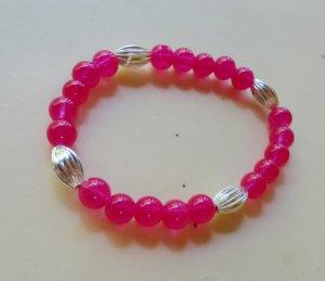 Pink Tiffany Bead Bracelet