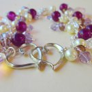 Amethyst and Heart Bracelet
