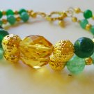 Jade and Topaz Crystal Bracelet