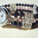 Amethyst Crystal Bracelet Watch