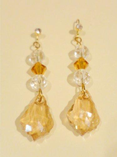Baroque Crystal Pendant Earrings