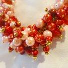 Riot of Colour - Crimson & Pink Necklace