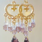Amethyst Baroque Chandelier Earrings