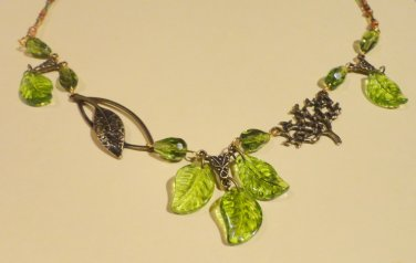 Forest Fantasy - Peridot and Bronze Necklace