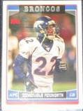 2006 Topps Domonique Foxworth #46 Broncos