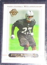 2005 Topps 50th Ann. Fabian Washington #377