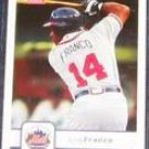 2006 Fleer Julio Franco #62 Mets
