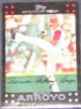 2007 Topps (Red Back) Bronson Arroyo #30 Reds