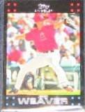 2007 Topps Jered Weaver #75 Angels