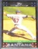 2007 Topps Cy Young (Red Back) Johan Santana #321 Twins