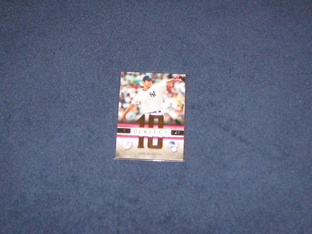 2007 Fleer Perfect 10 Mike Mussina #PA-MM Yankees
