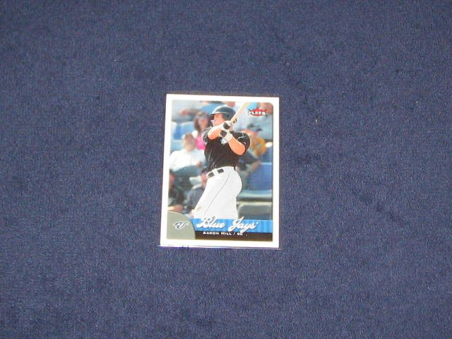 2007 Fleer Aaron Hill #20 Blue Jays