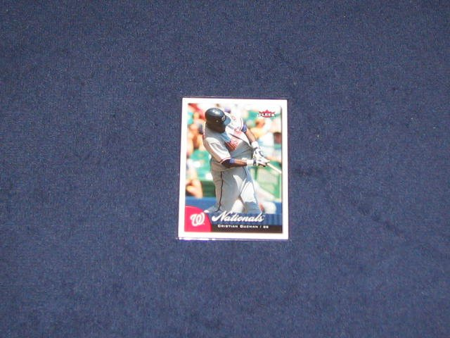 2007 Fleer Cristian Guzman #10 Nationals