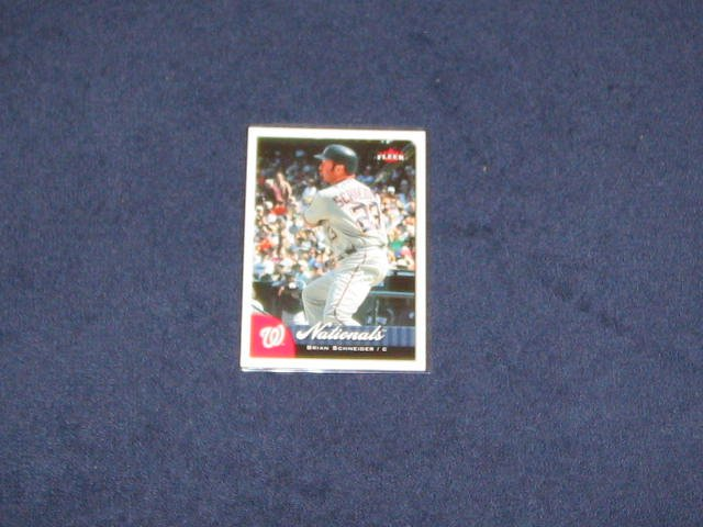 2007 Fleer Brian Schneider #6 Nationals