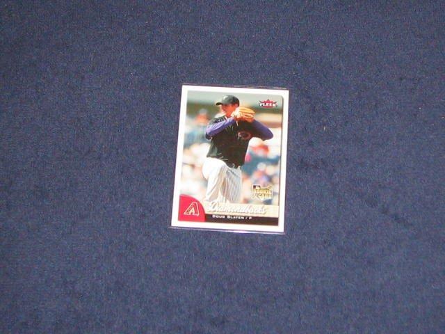 2007 Fleer Rookie Doug Slaten #343 Diamondbacks