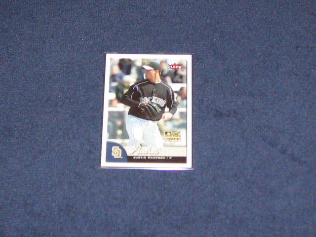 2007 Fleer Rookie Justin Hampson #337 Padres