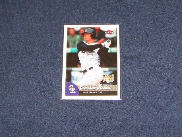 2007 Fleer Rookie Jeff Baker #324 Rockies
