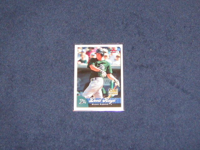 2007 Fleer Rookie Shawn Riggans #367 Devil Rays