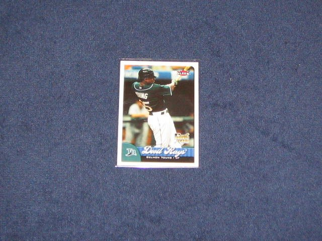 2007 Fleer Rookie Delmon Young #365 Devil Rays