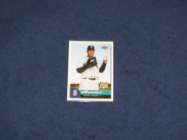 2007 Fleer Rookie Cesar Jimenez #363 Mariners