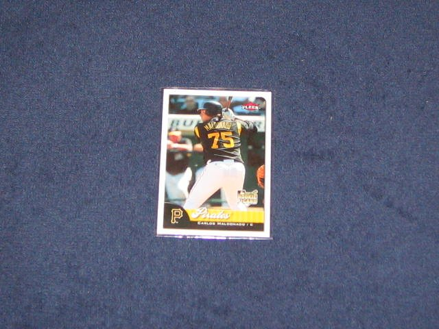 2007 Fleer Rookie Carlos Maldonado #354 Pirates