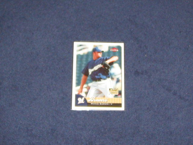 2007 Fleer Rookie Dennis Sarfate #350 Brewers