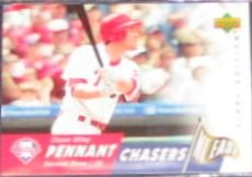 2007 UD First Edition Pennant Chasers Chase Utley