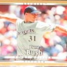 2007 UD First Edition Dave Bush #241 Brewers
